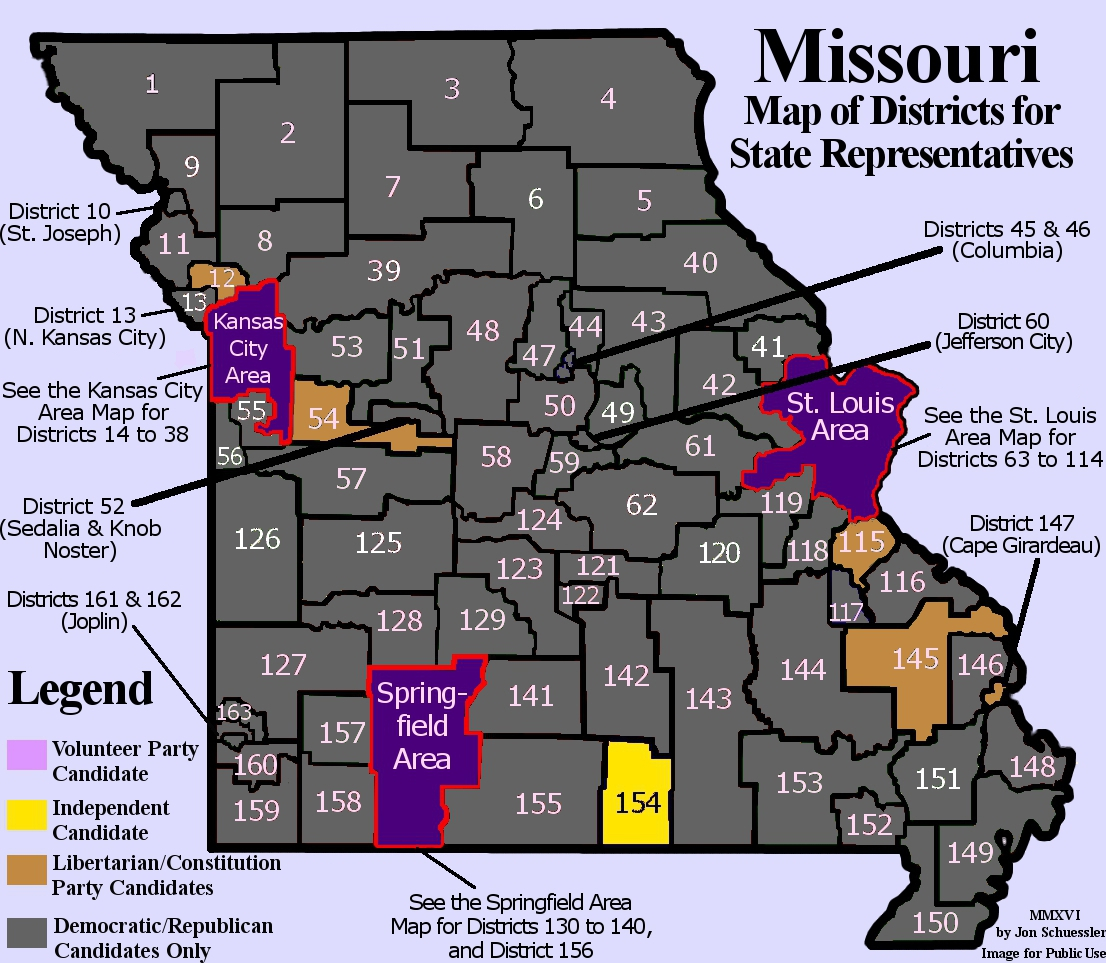 Welcome To The Volunteer Party - Missouri us congressional district map